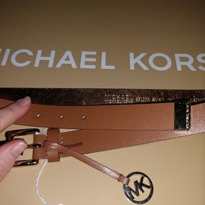 Michael Kors Brown Luggage Color Belt Size Small